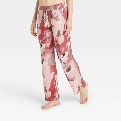 Women's Floral Print Beautifully Soft Pajama Pants - Stars Above™ Berry Pink