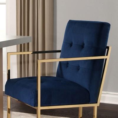 Nieve Velvet Arm Chair   Navy Blue   Abbyson. Shop All Abbyson Living