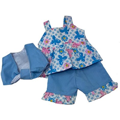 Doll Clothes Superstore Butterfly Shorts Set Fits Little Baby Dolls