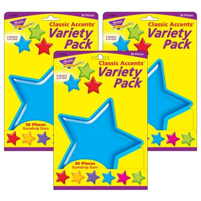 3pk Gumdrop Stars Classic Accents Variety Pack - TREND