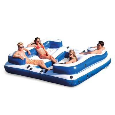 Intex 58293EP Oasis Island Inflatable Giant 5 Person Lake Floating Lounge Raft