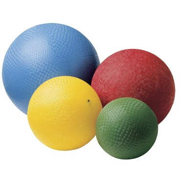 Sportime Rubber Playground Balls, Assorted Sizes and Colors, set of 4