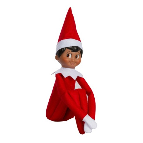 the elf on the shelf a christmas tradition with dark skin tone boy