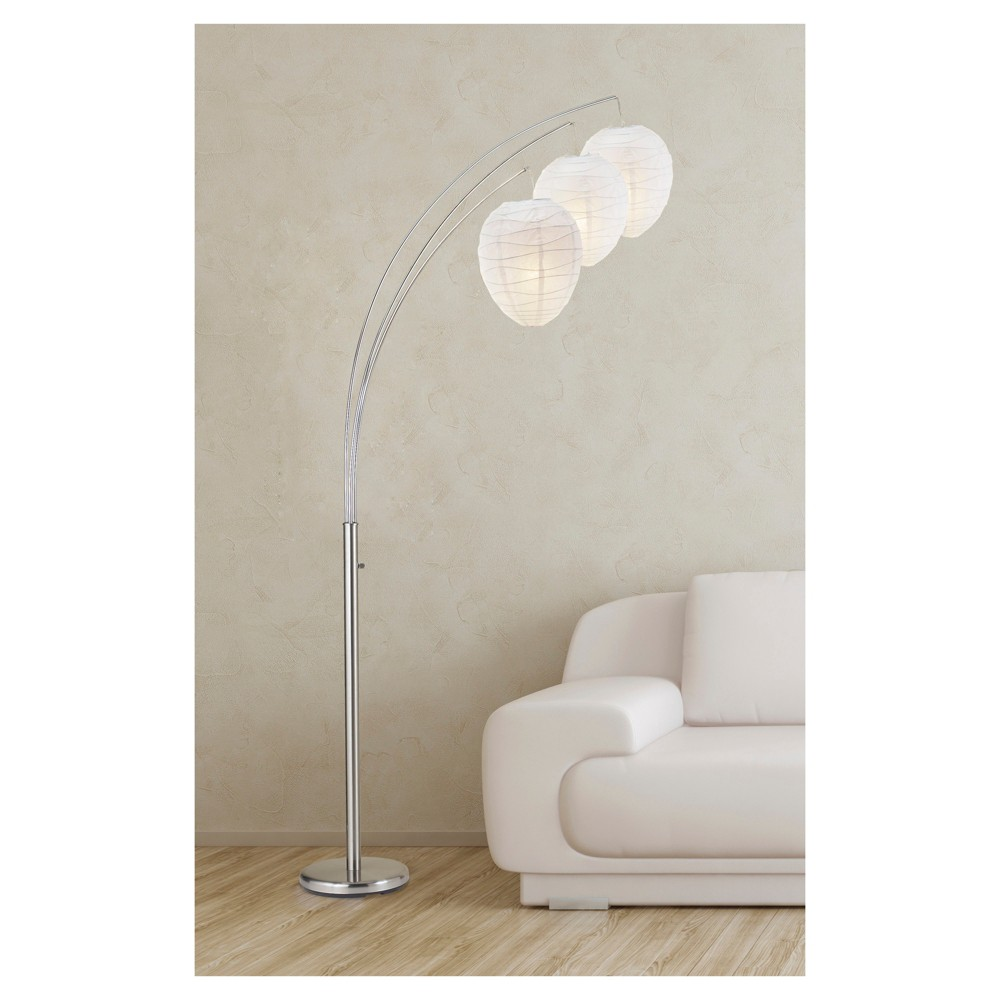 Image of Adesso Belle Arc Lamp - Silver