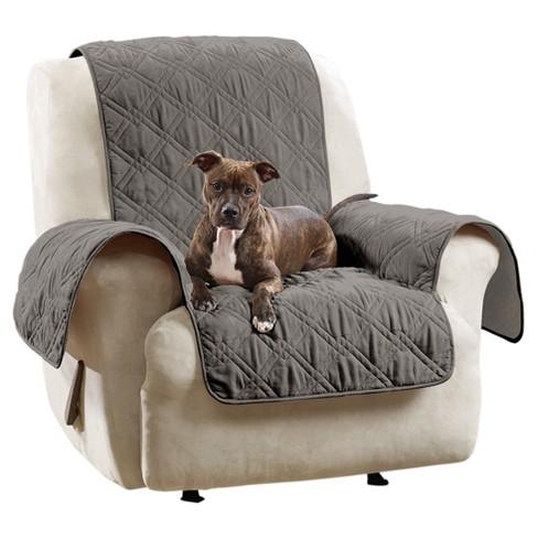 Stupendous Non Slip Waterproof Chair Recliner Furniture Protector Gray Sure Fit Customarchery Wood Chair Design Ideas Customarcherynet