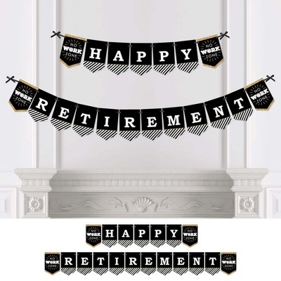 Big Dot of Happiness Happy Retirement - Retirement Party Bunting Banner - Party Decorations