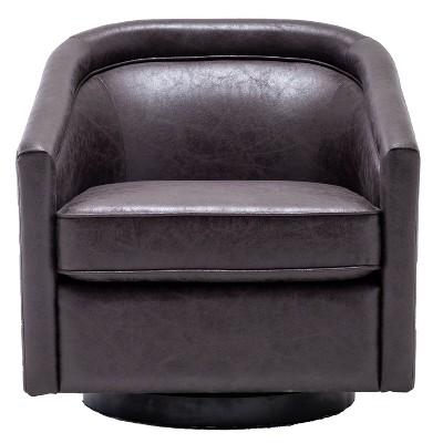 Classic Swivel Barrel Chair - WOVENBYRD