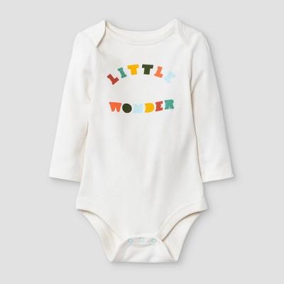 Baby Boys' 'Little Wonder' Long Sleeve Bodysuit - Cat & Jack™ Cream