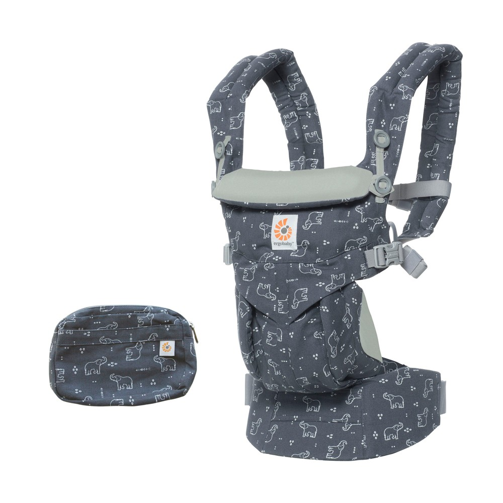 Image of Ergobaby Omni 360 Baby Carrier - Trunks Up, Gray