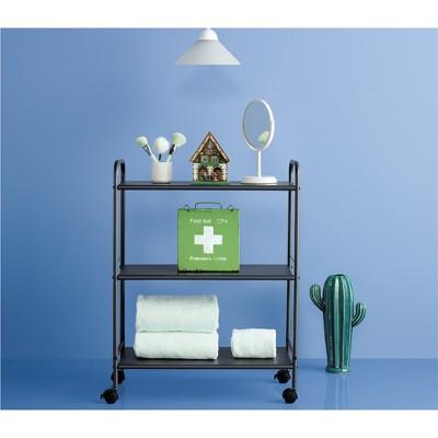 Delicieux 3 Shelf Wide Utility Storage Cart Gray   Room Essentials™