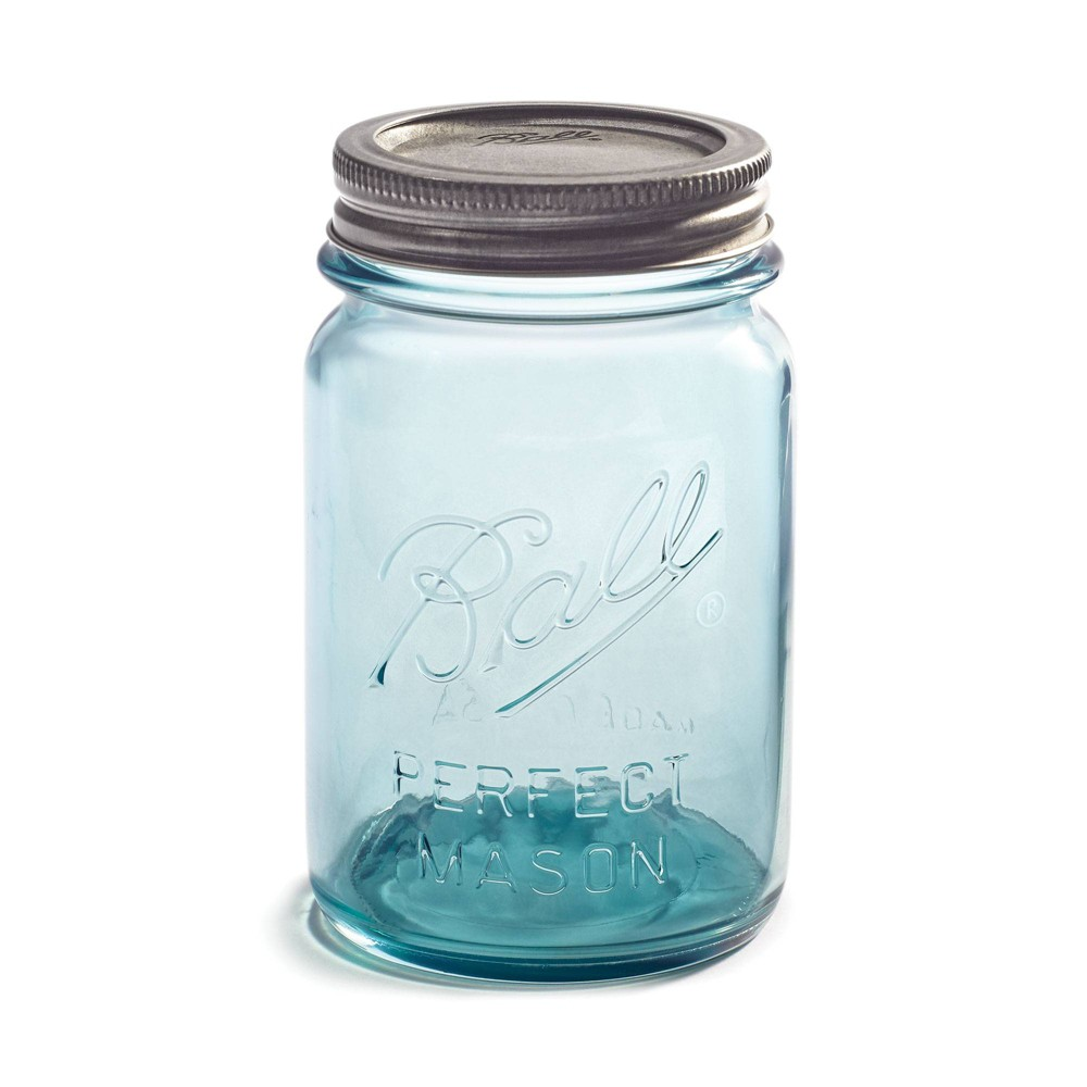 Image of Ball 16oz 4pk Aqua Vintage Regular Mouth Jars