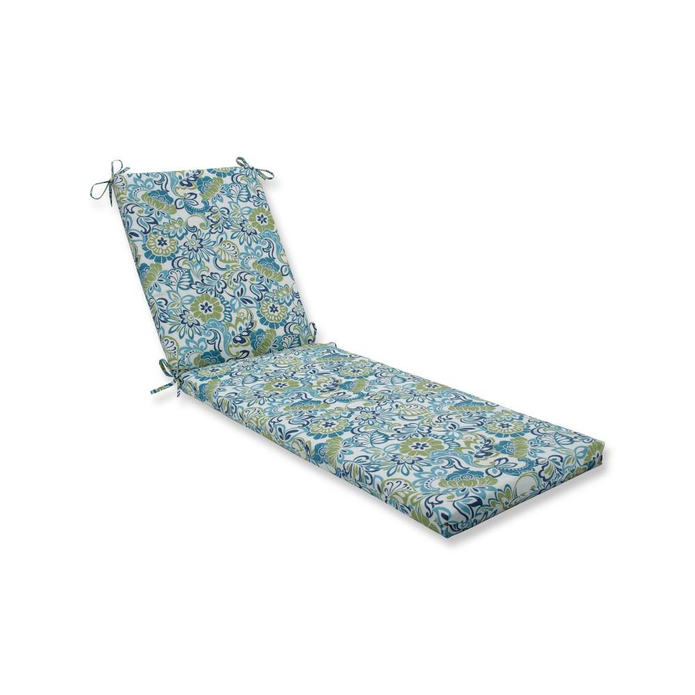 Indoor/Outdoor Zoe Mallard Blue Chaise Lounge Cushion - Pillow Perfect