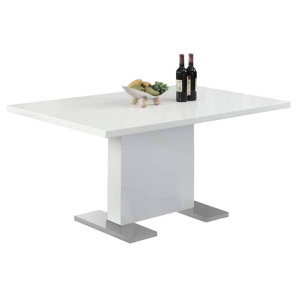 Image of Glossy Dining Table - White - EveryRoom