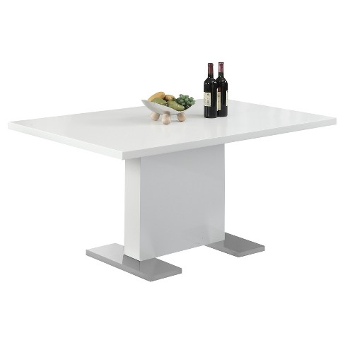 Glossy Dining Table - White - EveryRoom - image 1 of 2