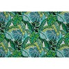 Aruba Jungle Wicker Outdoor Loveseat Cushion Blue - Pillow Perfect - image 2 of 2