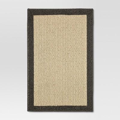 Madison Border Washable Accent Rug Gray 20 x30  - Threshold™