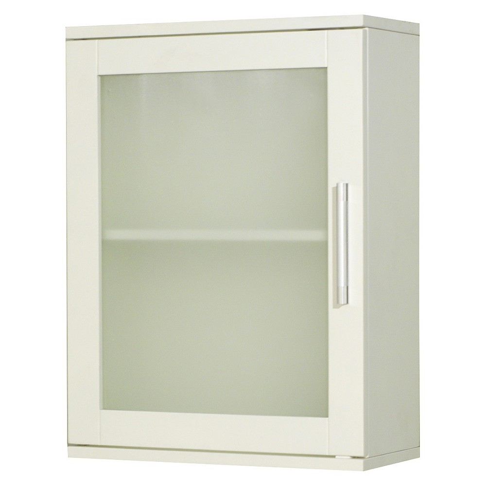Frosted Pane Wall Cabinet White - Tms