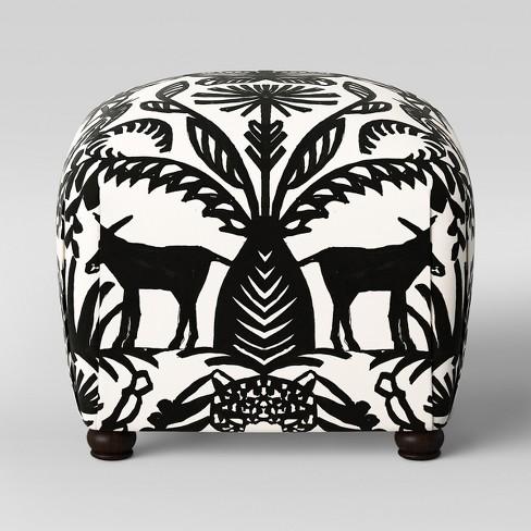 Incredible Poppy Ottoman Black White Animal Print Opalhouse Dailytribune Chair Design For Home Dailytribuneorg