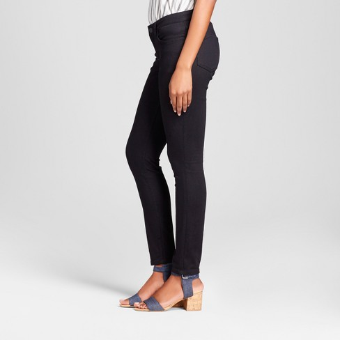 b7aebc3f Women's Curvy Fit Skinny Jeans - Crafted By Lee® Black 16 Long : Target