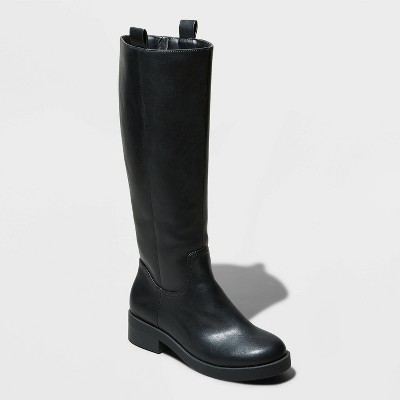 Women's Ansley Knee High Boots - A New Day™ Black