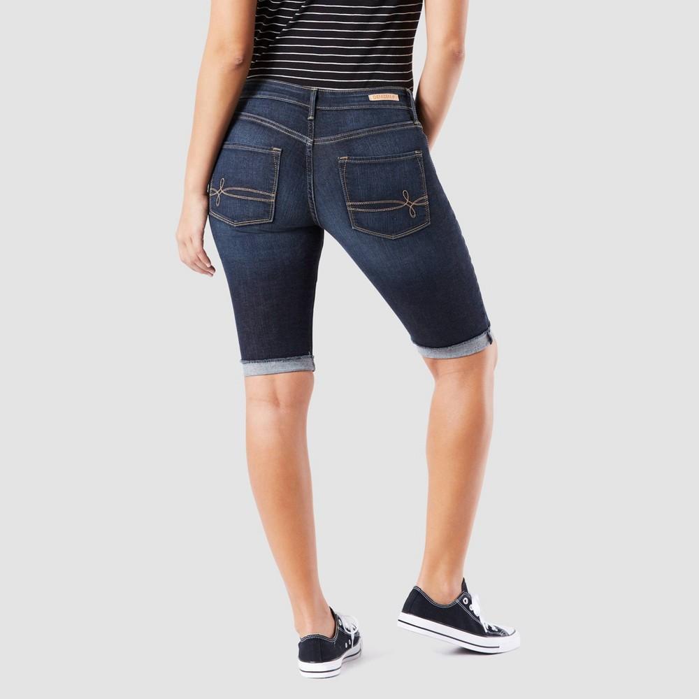Denizen from Levi's Women's Modern Skinny Jean Shorts - Dark Wash 18, Blue