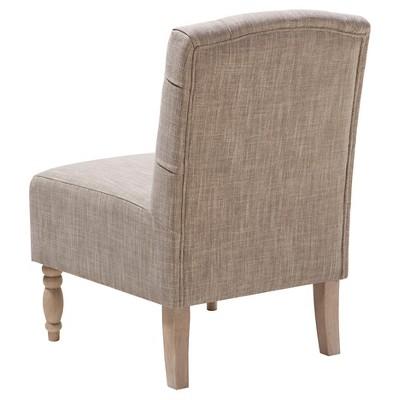 Charmant Lola Tufted Armless Chair   Gray : Target