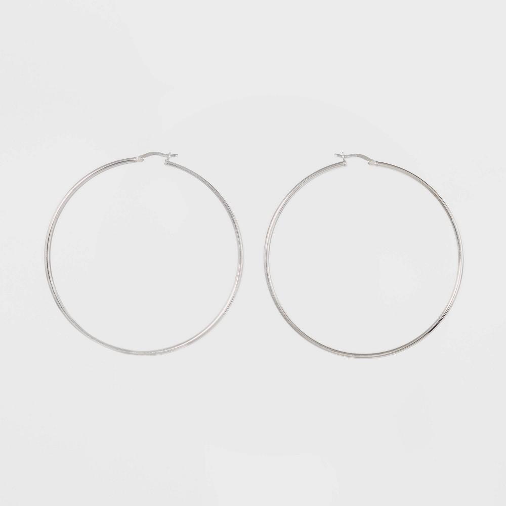 Sterling Silver Large Hoop Fine Jewelry Earrings - A New Day Silver