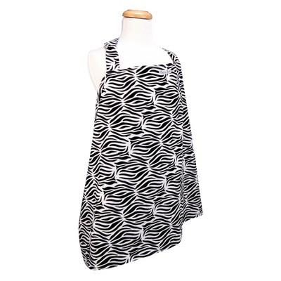 Trend Lab Nursing Cover - Black and White Zebra