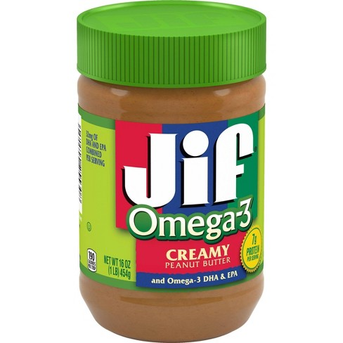 Jif Omega-3 Peanut Butter - 16oz - image 1 of 4