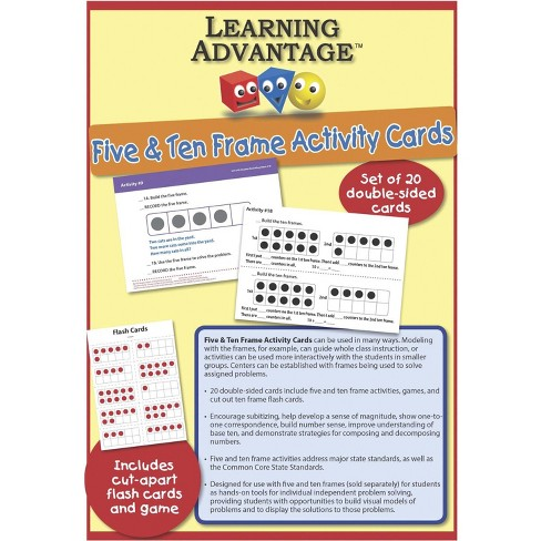 Learning Advantage F.U.N. Five and Ten Frame Activty Cards - image 1 of 4