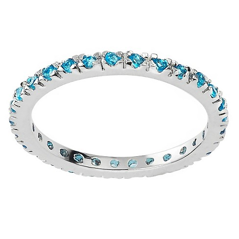 1/4 CT. T.W. Round-cut CZ Eternity Prong-set Ring in Sterling Silver - image 1 of 2