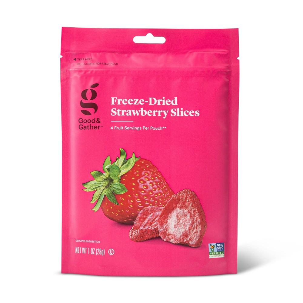 Freeze Dried Strawberry Slices 1oz Good Gather 8482