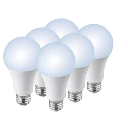 Monoprice Premium A21 Led Bulb 5000k 6 Pack 100 Watt Equivalent Daylight High Cri 90 1600lm Dimmable