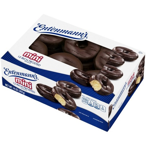 Entenmann's Frosted Mini Chocolate Donuts - 14oz - image 1 of 4