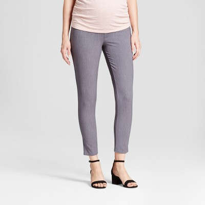 Maternity Crossover Panel Ankle Skinny Trouser - Isabel Maternity™ by Ingrid & Isabel® Heather Gray 14