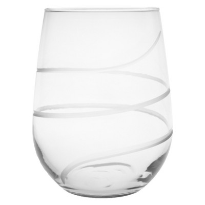 17oz 4pk Twist Stemless Wine Glasses - Rolf Glass