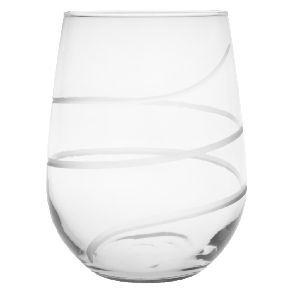 Image of 17oz 4pk Twist Stemless Wine Glasses - Rolf Glass, Clear