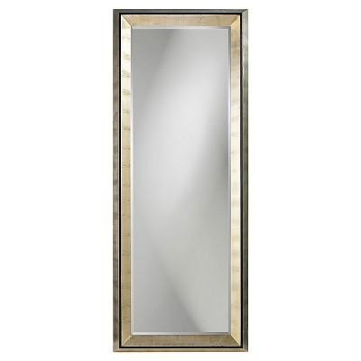 Rectangle Detroit Floor Mirror Light Silver - Howard Elliott
