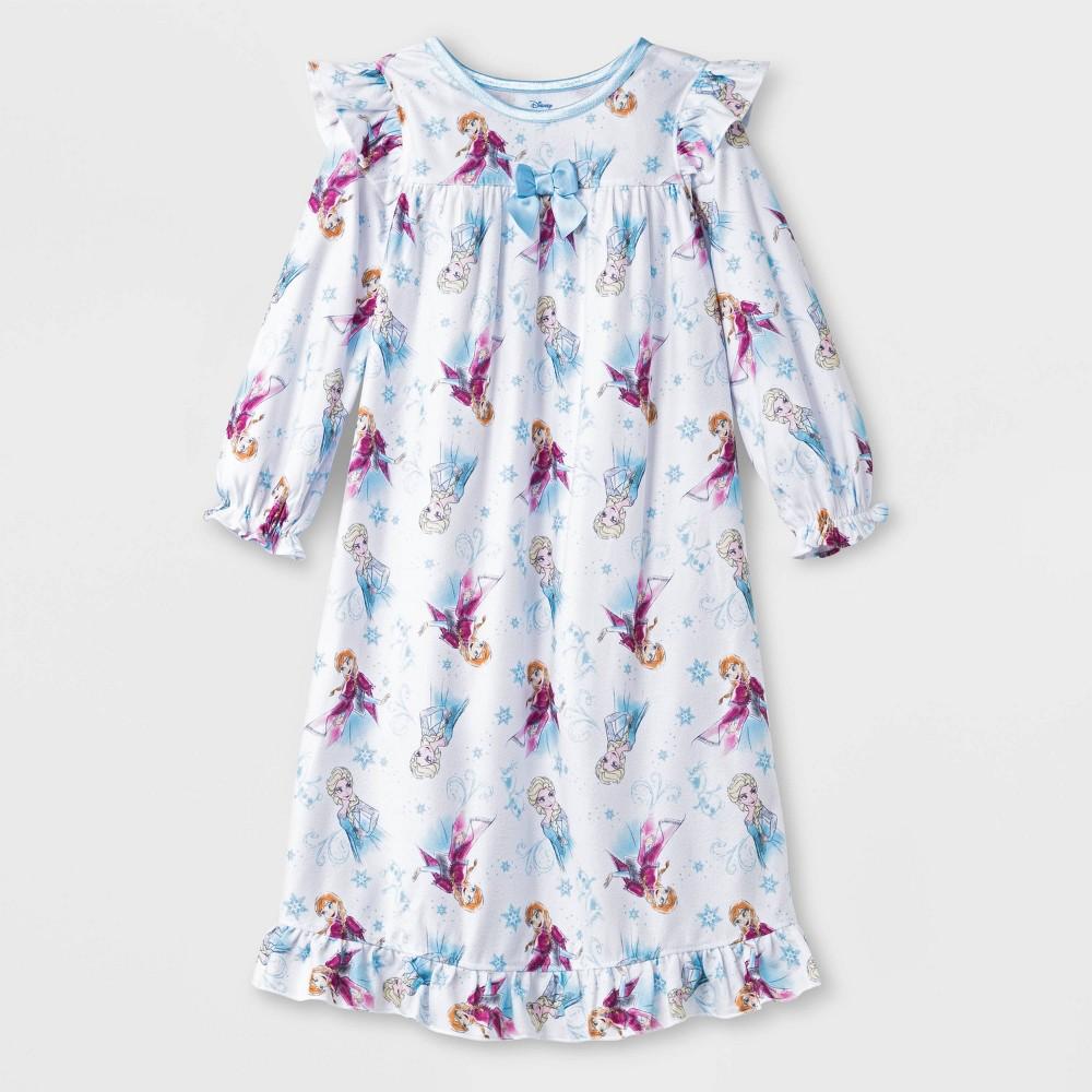 Image of Baby Girls' Frozen Pajama Nightgown - White 12M, Girl's