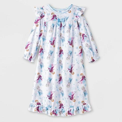 Toddler Girls' Frozen Pajama Nightgown - White - image 1 of 1