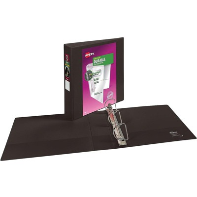 """Avery Durable 2"""" 3-Ring View Binder Black (17031) 816199"""