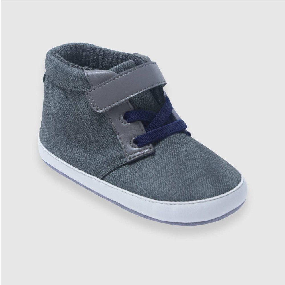 Image of Ro+Me by Robeez Baby Boys' Chuck Chukka Boots - Gray 0-6M, Boy's