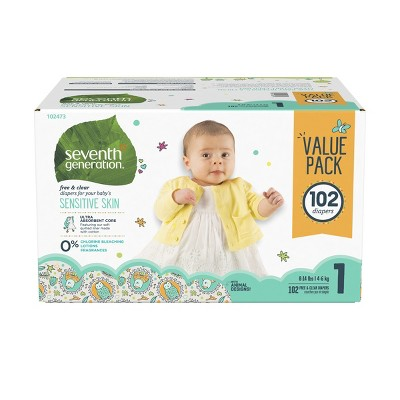 Seventh Generation™ Free & Clear Diapers Size 1 - 102ct