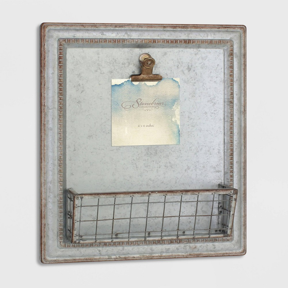 Image of Rustic Galvanized Magnetic Memo Board Metal - Stonebriar Collection