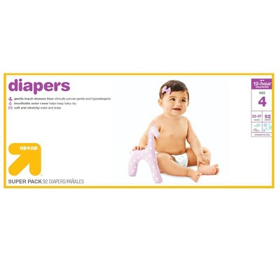 Diapers Super Pack Size 4 - 92ct - Up&Up™