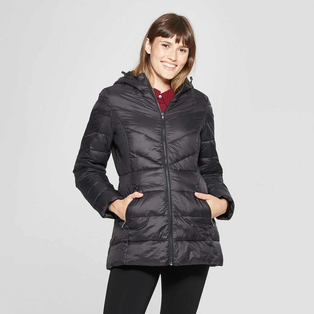 Women's Lightweight Quilted Jacket - A New Day Black XL