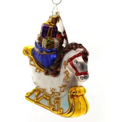 Christopher Radko Equus Sleigh Ride Horse Ornament Christmas  -  Tree Ornaments