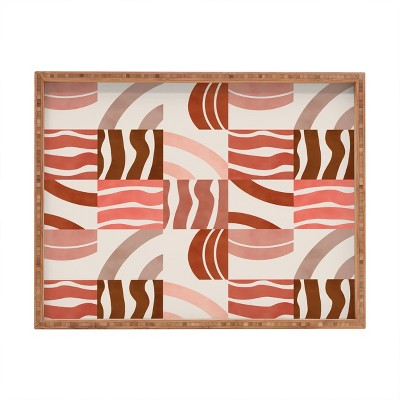 Marta Barragan Camarasa Terracotta Modern Shapes Rectangular Bamboo Tray - Deny Designs
