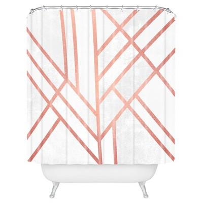 Stripe Shower Curtain Brass - Deny Designs