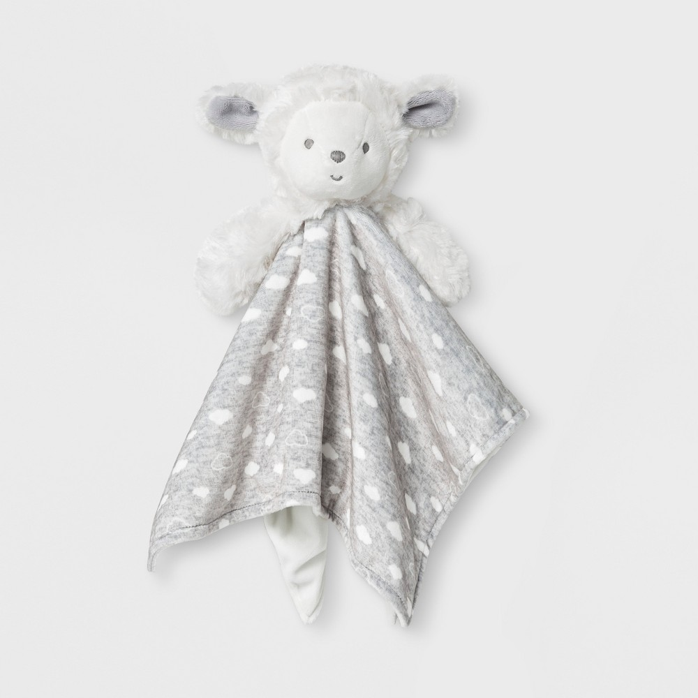 Babys' Lamb Cuddle Plush - Just One You made by carter's Gray/White